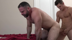 Family Dick: Muscled Charlie Pattinson hard ass fucking