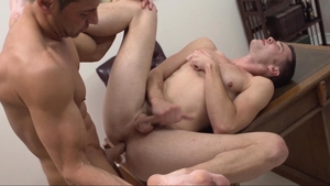 Missionary Boys - Elder White in panties gagging in the shower