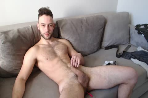 athletic Muscled lad Alex With admirable Body Hair And semen flow