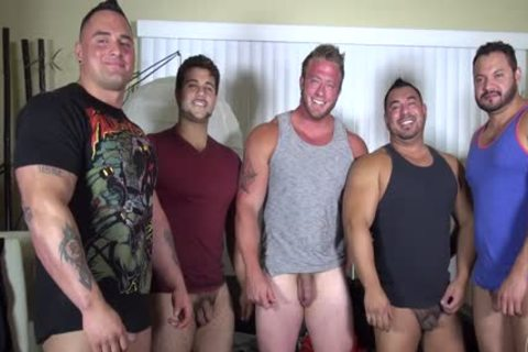 In Nature's Garb Party @ LATINO Muscle Bear abode - non-professional pleasure W/ Aaron Bruiser