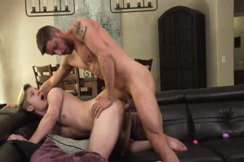 hairy Muscle daddy pounds lovely wazoo Stepson