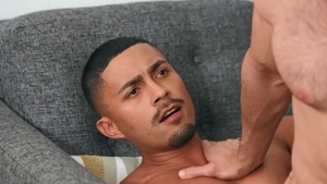Sean Cody - Muscled Manny bareback sucking dick outdoors