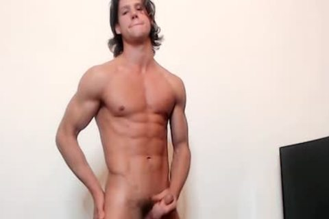 Ethan Opry On Flirt4Free - horny Ripped webcam Model Strokes His horny weenie