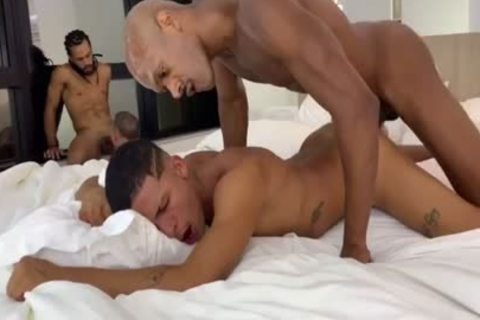 Interracial 4-Way In Rio