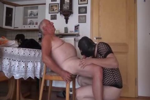 Super horny older man And Masked Unusual boy engulf And pound On