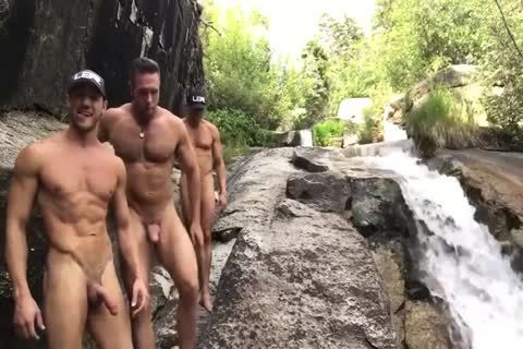 nude At The Waterfall
