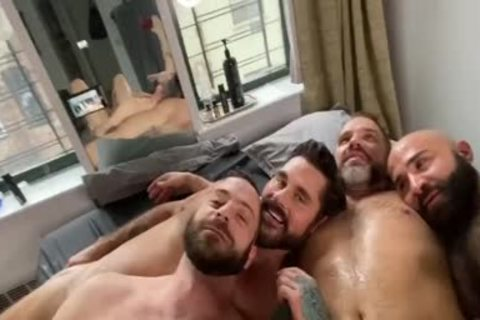 4 concupiscent Hunks nailing At Home
