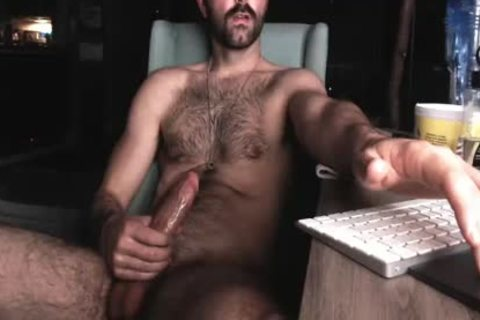 hairy Chest boy stroking His gigantic 10-Pounder And Shooting gigantic Load Of cum