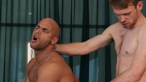 DrillMyHole.com: Inked Sean Zevran giving head for huge penis