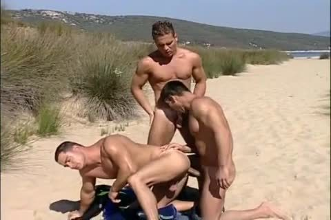 Three males On The Beach