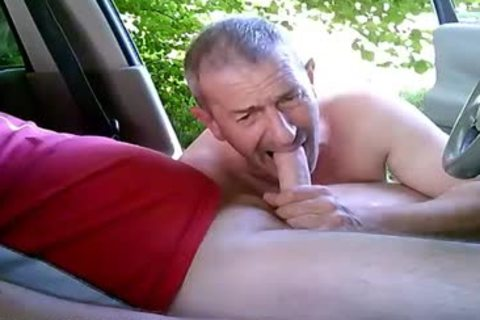 excited homo males On Car Have Some Public And Outdoor Sex