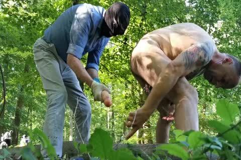 Real Geman non-professional unfathomable dildo And Fist Sex In The Wood