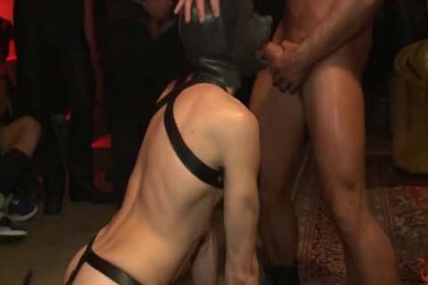 tied Up And pounded In Front Of 100 lustful guys