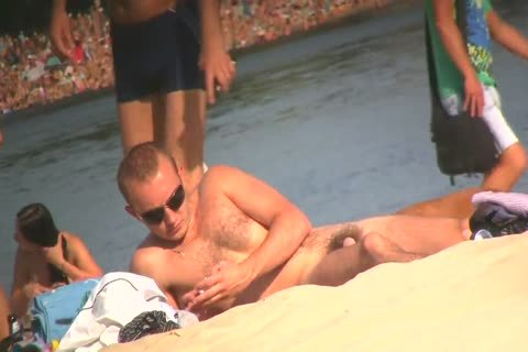 SPYING ON undressed fellows AT THE NUDIST BEACH VOL two