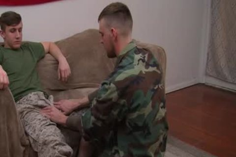 private First Class Jett S First gay oral stimulation
