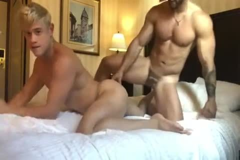 excited blond Bottom And Macho Top