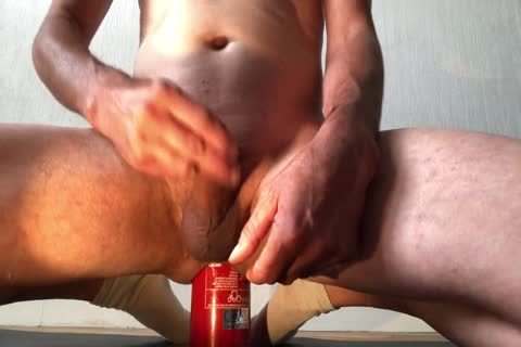 alluring Insertion extraordinary Bottle anal With cumshot