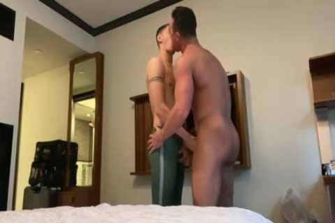 two Daddies & sexy lad three-some
