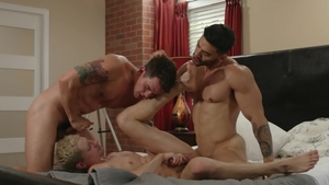 IconMale: Very slim Taylor Reign and Arad Win Win licking ass