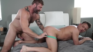 IconMale - College guy Colby Jansen touches huge penis
