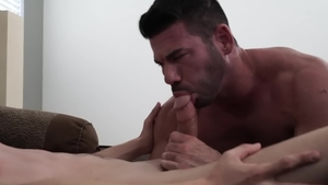 IconMale - Jacob Stax with hairy Billy Santoro rimjob