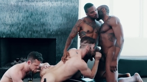 Noir Male: Nailing along with tattooed ebony Aaron Reese HD