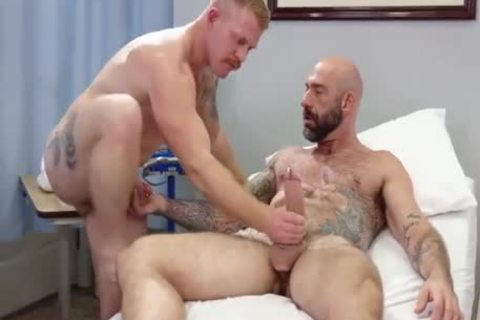 homosexual Sex : Drew Sebastian & Nurse Ginger Piercing Bear (stripped)