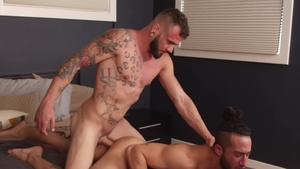 Next Door Raw - Tattooed amateur Xavier Cole receives nailing