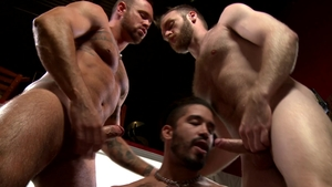 MenOver30: Inked and piercing Peter Marcus threesome