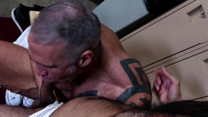 MenOver30: Gay Rikk York playing with huge penis daddy