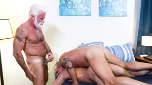 BearBack - Bear Jaxx Thanatos playing with huge cock daddy