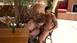 Falcon Studios: Zario Travezz pounded by Nick Fitt outdoors
