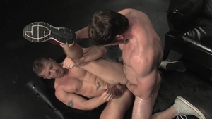 Raging Stallion: Jeremy Stevens next to Connor Maguire tongue