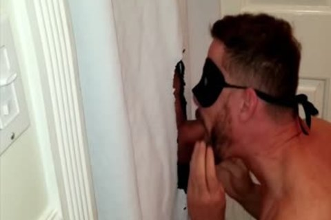 bunch Of Bodybuilders Stop By My Gloryhole At The Same Time To Feed Me Their Loads