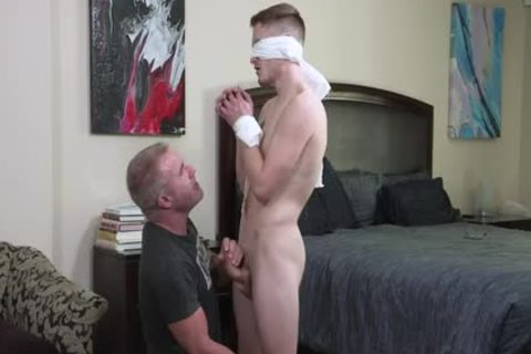 lascivious Stepdad Ties And Blindfolds virginal Stepson Josh Cannon