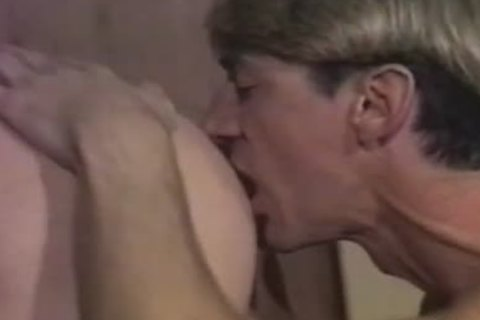 Country men eat booty and pound in vintage clip