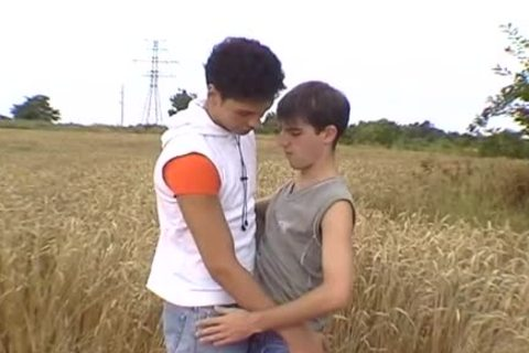 Two charming mans enjoy boy-friendtio outdoors